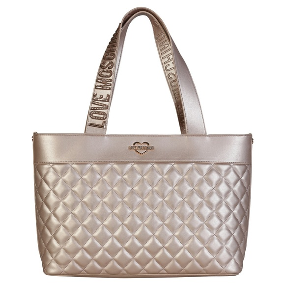 34d2d5f4f0 Moschino Bags | Love Metallic Shopping Tote Handbag | Poshmark